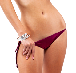 Women in the picture was a patient for a tummy tuck